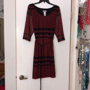 Used, worn twice, beautiful red/black dress